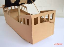 diy cardboard pirate ship craft tutorial pirate ship craft