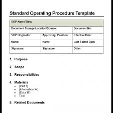 Writing Standard Operating Procedures Template 9 standard operating procedure sop templates word excel pdf formats