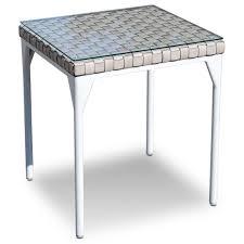 skyline design brafta outdoor side table with glass top baer u0027s