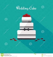 wedding cake icon in the flat style vector stock vector image