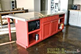 Base Cabinets For Kitchen Island Pre Built Kitchen Islands How To Make A Kitchen Island With Base