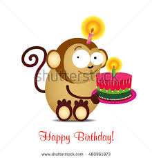 birthday cardbirthday cakevector funny happy birthday stock vector