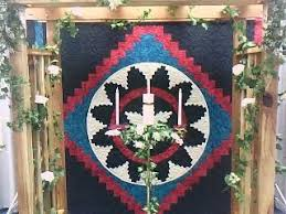 quilt wedding backdrop navajo wedding basket quilt backdrop swdecoratives