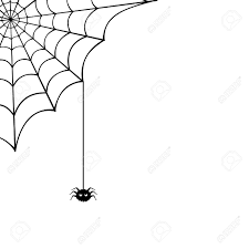 halloween spider clipart black and white spider web and spider illustration royalty free cliparts vectors
