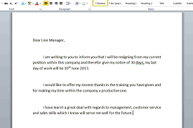 two weeks notice template and guidelines to create resignation