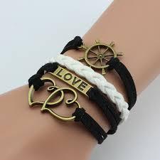 vintage infinity bracelet images Love wings rope infinity bracelet womens mim clothing jpg