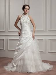 wedding dresses high high neck strapless wedding dress with and applique detail