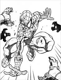 30 spiderman colouring pages printable colouring pages free
