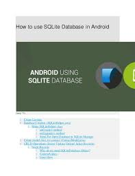 android database android using sqlite database administrators hmftj
