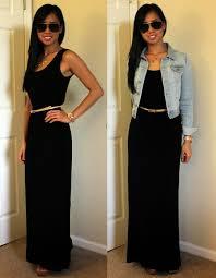 black maxi dress and denim jacket u2013 dress blog edin