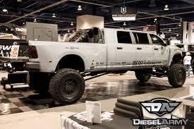sema 2014 diesel sellerz u0027s extreme 6 door show truck diesel army