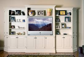White Distressed Bookcase by Entertainment Centers Custom Cabinetry By Ken Leech