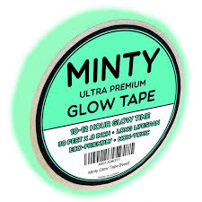 oxo candela luau portable l minty glow tape bright glow in the dark fluorescent green tape