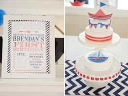 boy birthday kara s party ideas nautical sailor boat boy 1st birthday party