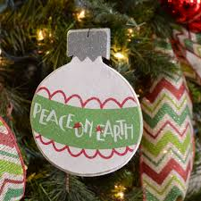 peace on earth ornament sign 5 by 6 22492