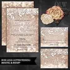 glitter wedding invitations gold wedding invitation amulette jewelry