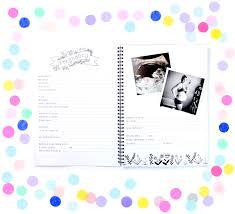 baby book blueberry co monochrome baby book kaleido kollection