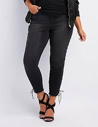 Plus Size Ripped Leggings Plus Size Jeans U0026 Denim For Women Charlotte Russe