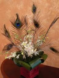 Peacock Centerpieces Wedding Florist We Do Wedding Flowers