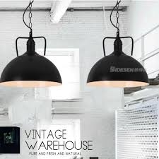 Country Pendant Lights American Country White Black Hanging Ls Vintage Industrial