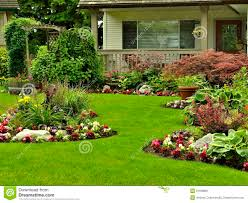 home and yard design front yard landscaping stock image image 31598801
