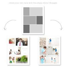 8 5 x11 photo album simpy white pages 8 5x11 and 8x10 for project and albums