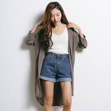 chic clothing chic chiffon trench korean fashion 2017 summer wearing