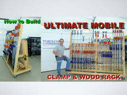 Plywood Storage Rack Free Plans by Ultimate Mobile Clamp U0026 Wood Rack Youtube
