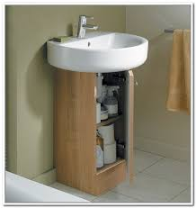 the bathroom sink storage ideas design of wooden pedestal sink storage idea to decorate