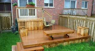 Deck Ideas For Small Backyards Small Backyard Deck Designs With Planters And Bench Great Small