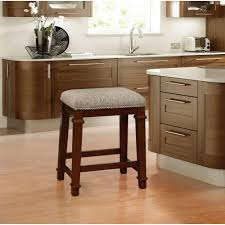 linon home decor kennedy 24 in walnut cushioned bar stool