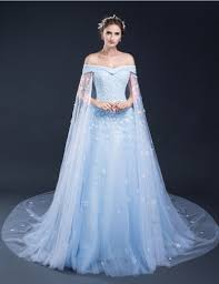 blue wedding dresses 2017 light blue wedding dresses the shoulder lace tulle