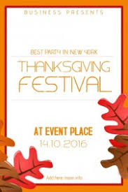 customizable design templates for thanksgiving event template