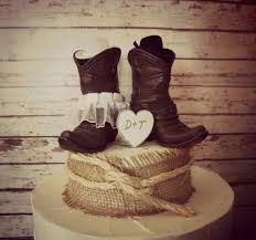 country cake topper rustic country wedding cake topper with boots ipunya