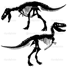 fossil coloring pages rex skeleton coloring pages printable