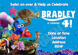 finding nemo birthday invitations template template collection