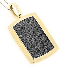 gold dog pendant necklace images 14k solid gold dog tag pendant with black diamonds 3 25 jpg