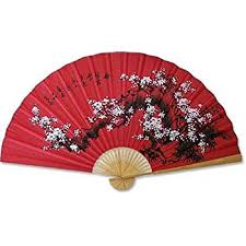 decorative fan painted folding pomegranate and bird painting