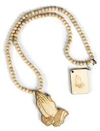 praying necklace fellas necklace praying jewelry wood