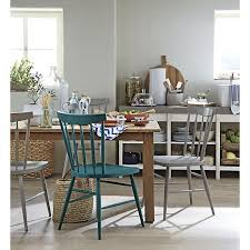 Crate And Barrel Dining Room Tables Willa Peacock Side Chair In Dining Chairs Crate And Barrel