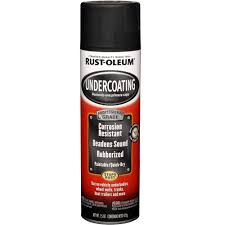 rust oleum automotive 15 oz pro matte black undercoating spray