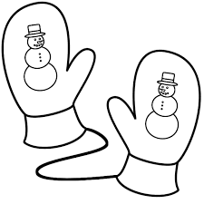 mittens coloring pages aecost net aecost net