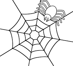 spider web coloring page free printable spider web coloring pages