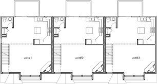 narrow floor plans triplex house plans 3 bedroom town houses 25 ft wide house plan