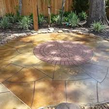 Average Cost Of Landscaping A Backyard 2017 Stamped Concrete Patio Cost Calculator How Much To Install