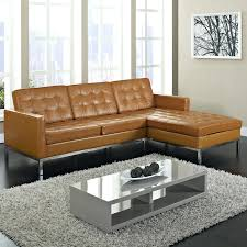 Leather Tufted Sofa by Small Curved Sectional Brown Leather Sofa With Nailhead Trim Full