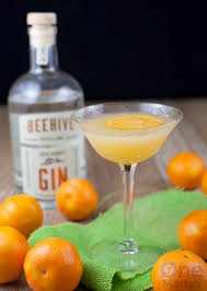 martini ginger gin clementine cocktail with ginger one martini