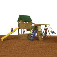 Backyard Swing Sets Canada Playstar Great Escape Ready To Assemble Bronze Playset Kt 74753