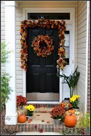 backyards autumn front door decorating ideas design thanksgiving