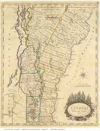 Map Of Vermont Towns Prints Of Old Vermont State Maps